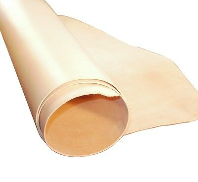 1.5Mm Thick Natural Veg Tan Craft Leather Hide Choice Of Sizes