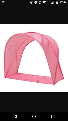Ikea Sufflett Children's Bed Tent/ Canopy- For Kids Single Bed- Pink