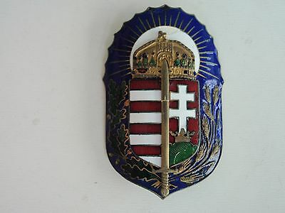 Hungary Kingdom Badge Medal. Rare.  Vf+