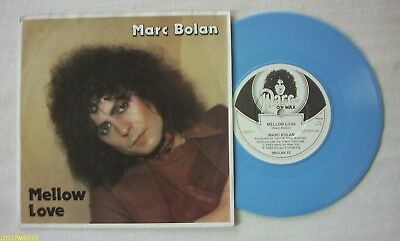 "Marc Bolan -  Mellow Love - 3 Track - Blue 7"" Vinyl"