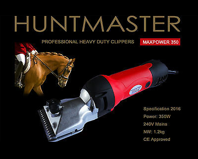 Huntmaster horse clippers, heavy duty with comb attachments and 2 x blades