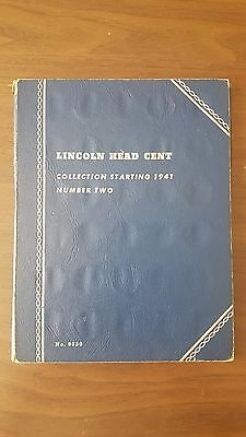 Usa Lincoln Head Cent Collection In Whitman Folder ~ With Coins!