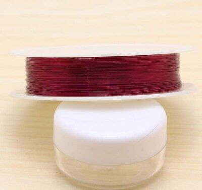 15M (1ROLL) New Hot 0.4mm Copper Wire Craft wire bead wrap jewelry making Red