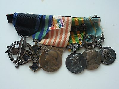 Greece France Medal Bar For 6 Medals
