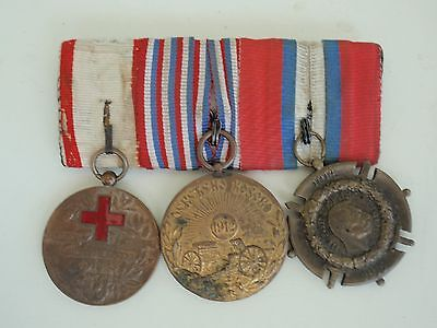 Serbia 3 Group Medal Bar. Ef!
