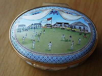 Cricket Bicentenary Of The MCC Halcyon Days Enamels Oval Box 1987 Ltd Ed Boxed