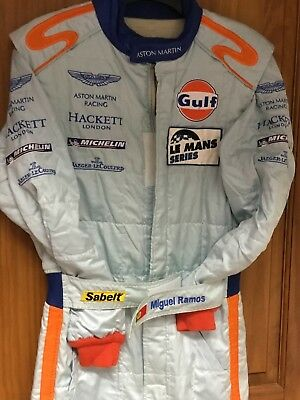 Genuine  MIGUEL RAMOS Aston Martin Racing Sabelt Race Suit Used. Le Mans size 54