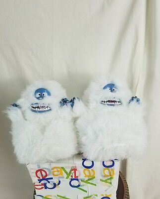 """Abominable Snowman from """"Rudolph the Reindeer"""" ADULT PLUSH Slippers size M"""