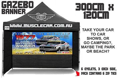 Musclecar Bathurst Winner XC Falcon 1977 Gazebo banner / flag