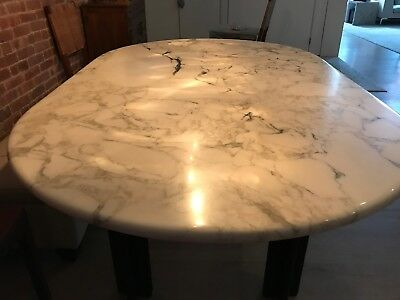 Knoll 4 legs white marble table