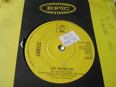 """Labelle - Lady Marmalade - Epic 7"""""""
