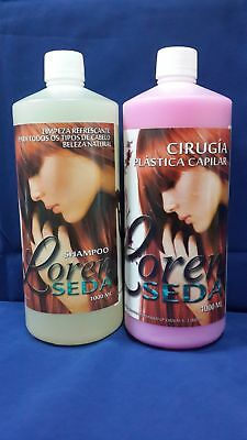 Cirugia Capilar Loren Seda / Original / 2 Pasos /1000 ML C/U / Color: Chicle.-