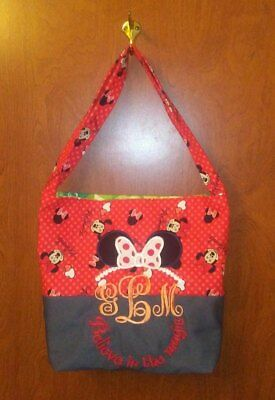 Monogrammed Minnie Mouse Tote Bag