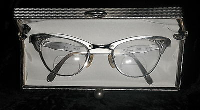Vintage Victory Cateye Glasses with Aluminum and White Gold Filled Frames