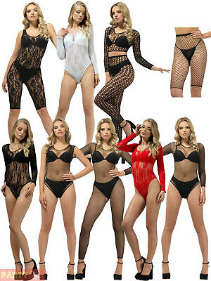 Ladies Fever Underwear Adults Sexy Fancy Dress Bodysuit Unitard Jumpsuit Womens