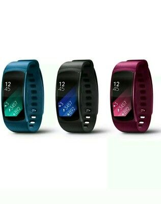 Samsung Gear Fit 2 Large GPS Fitness Tracker Smart Watch  SM-R360 Black or red