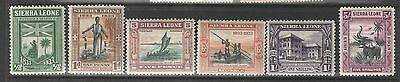 Sierra Leone  1933 Wilberforce Partial Set to 5 Shilling Mint