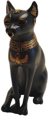 "Bastet Bast Ancient Egyptian Feline Cat Goddess 5-1/2"" Statue Figurine Sculpture"