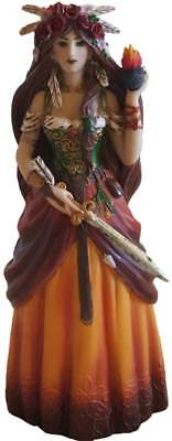 "Brigid Brigit Celtic Irish Goddess 8"" Hand-Painted Statue Sculpture Figurine"