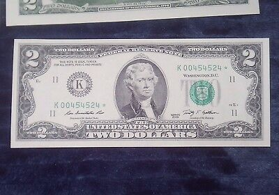 """""""gem Unc"""" 2009 $2 Dollar (Dallas Texas) Sequential Star Notes (See Details)"""