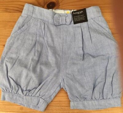 Autograph Baby Boys Pale Blue Shorts size 12-18mths .. Please see description