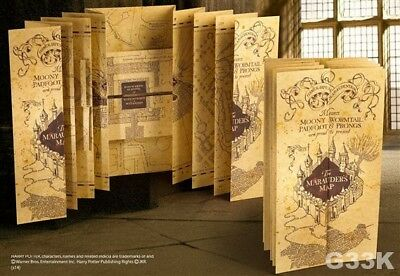 Harry Potter Marauders Map Replica The Noble Collection Official Licensed UK New