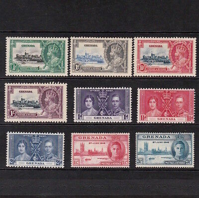 Grenada 1935-1946 Selection Of Mint Stamps Including Kgv Silver Jubilee Set
