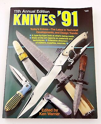 Knives 1991 11th Annual Edition knife directory knifemaker bowie folding 91