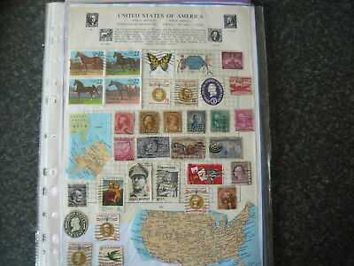 Uniteds States ....8 Pages Of Stamps From Early Inc. Collectables