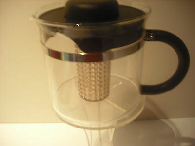 Bodum  Coffee Plunger Glass/Stainless Steel.Unusual with centre insert .1 Litre