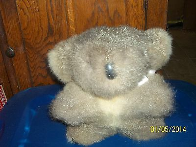 "Rare Made In New Zealand From Opposum Fur Brown Koala Bear 9"" Tall"