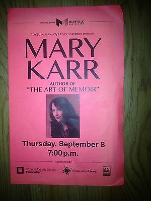 Mary Karr Lot of Three Signed Paperback  & Unsigned HC 1st - VF -  & Paperback