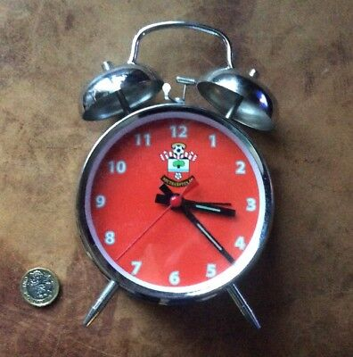 Southampton Football Club Alarm Clock Wind Up Double Bell Look!