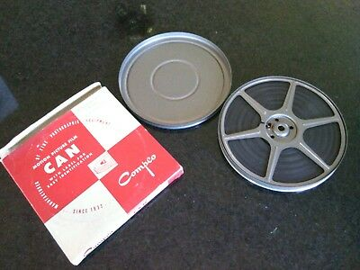 Christmas Family Home Movies 1952 - 1954 8mm Film 300ft Spool Can No 116 Compco
