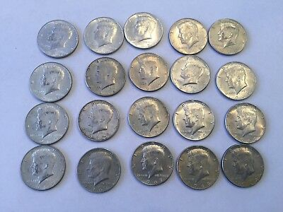 1965-1969 Kennedy Half Dollars 20 Total