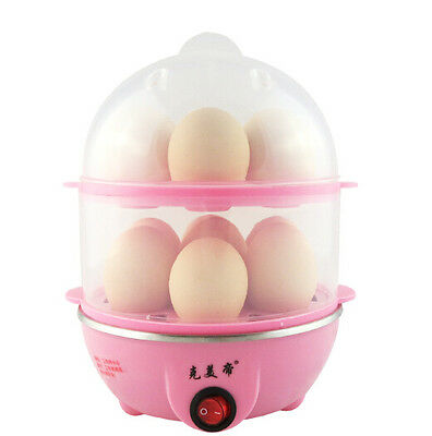 Automatic Clear Digital Chicken 1-14 Egg Steamed machine Compact Cooker New