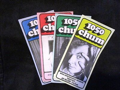 1050 Chum Charts From the '70's