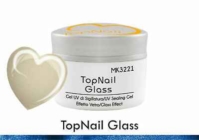 Gel UV Sealing Transparent Sealing Glass Effect Reconstruction Nails pubblicità
