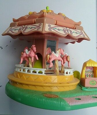 Polly Pocket Spin Pretty horse carousel toy playset Vintage 1996 1990s Flawed