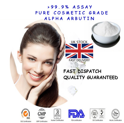 AUTHENTIC Pure ALPHA ARBUTIN >99.9% Cosmetic Grade Skin Whitening Powder