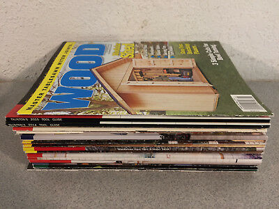 Lot of 21 Woodworking Magazines: Wood, Tool Guide, Woodsmith, Workshop, 2010s