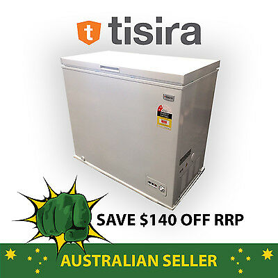 Tisira Large Capacity 198 Litre White Chest Freezer with Drainage (HS-258C)