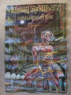 IRON MAIDEN 1986 # 3090  original Somewhere in time poster