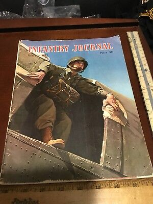 Infantry Journal Oct 43 PARATROOPER cover North Africa Rommel Campaign Attu