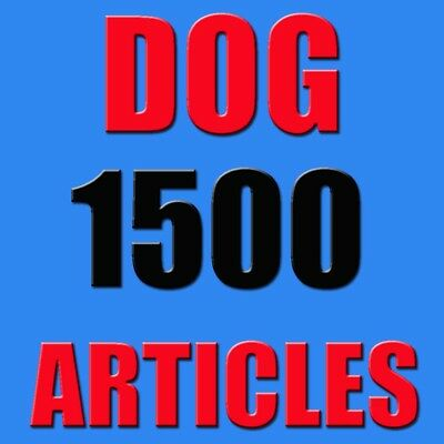 DOG TRANING Niche 1500+ PLR Articles on  Private Label Rights with resell rights