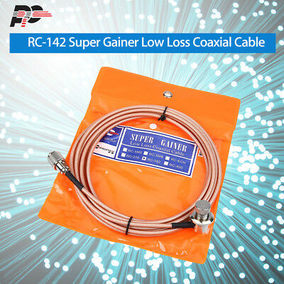 PROTEC RC-142 Low Loss Coaxial Cable 5m/13ft for Mobile Radio Practical for ICOM
