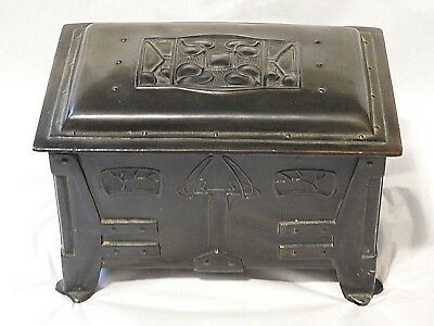 Arts & Crafts Mission humidor Metal Art cigarette Trinket Jewelry chest Chest