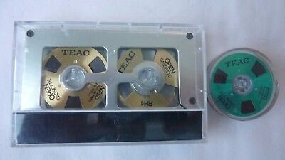 Teac Ocasse Reel to reel cassette tape Normal position + one spare reel
