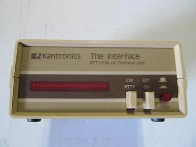 Vintage Kantronics Rtty,cw, With Box ,the Interface **** Please Read ****