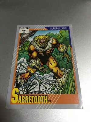 Sabretooth # 56 - 1991 Marvel Universe Series 2 Impel Base Trading Card